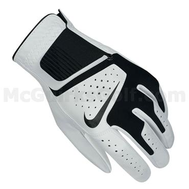 Nike Gents Dri-Fit Tech II Leather Right Hand Golf Glove White - Black
