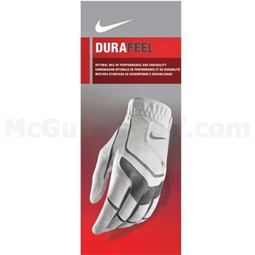 Nike Ladies Durafeel Golf Glove Left Hand White - Anthracite - Grey