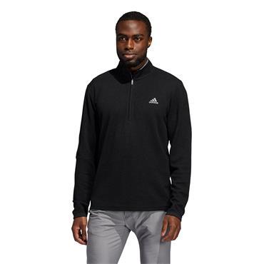 adidas Gents 3-Stripe ¼ Zip Sweatshirt Black Melange