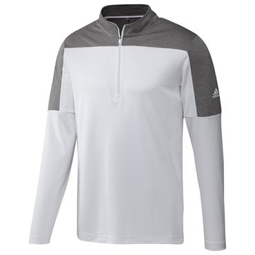 adidas Gents ¼ Zip UPF Lightweight Top White