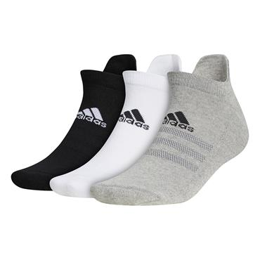 adidas Gents Ankle 3-Pack Socks Grey Three