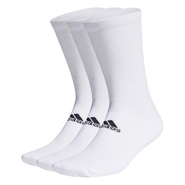 adidas Gents Crew 3-Pack Socks White
