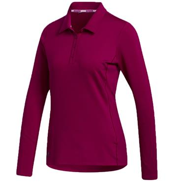 adidas Ladies Cold.RDY Longsleeve Polo Power Berry