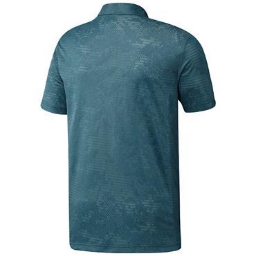 adidas Gents Camo Polo Shirt Wild Teal