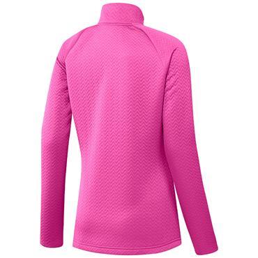 adidas Ladies Textured Full Zip Layer Jacket Screaming Pink