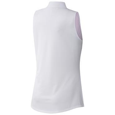 adidas Ladies Primegreen Gradient Sleeveless Polo Shirt Screaming Pink