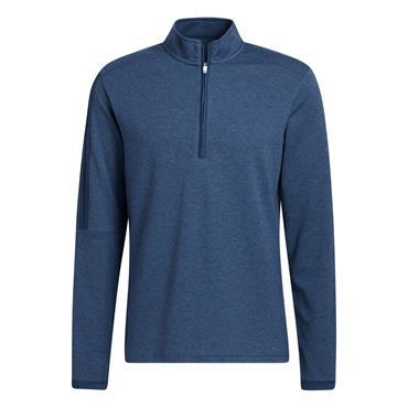 adidas Gents 3-Stripe ¼ Zip Sweatshirt Crew Navy Melange