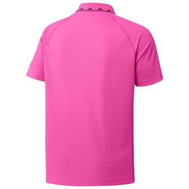 adidas Gents Equipment Zip Piqué Polo Shirt Screaming Pink