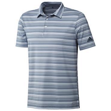 adidas Gents Heather Snap Polo Shirt Crew Navy - White
