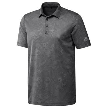 adidas Gents Camo Polo Shirt Black - Grey Three