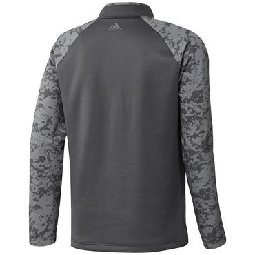 adidas Gents Camo Hybrid Layering Sweatshirt Grey Five
