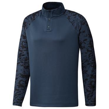 adidas Gents Camo Hybrid Layering Sweatshirt Crew Navy