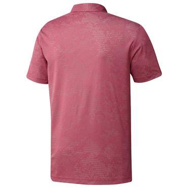 adidas Gents Camo Polo Shirt Wild Pink - Grey Two