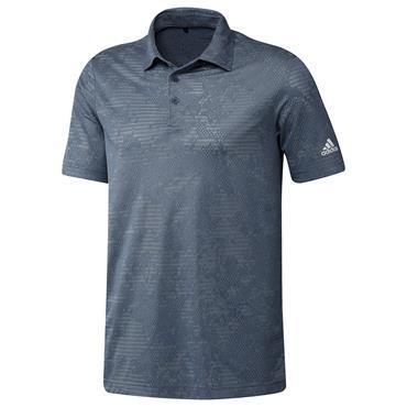 adidas Gents Camo Polo Shirt Crew Navy - Grey Two