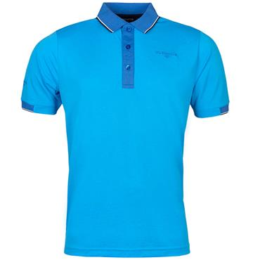 Glenmuir Gents Contrast Tipping Polo Shirt Azure