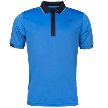Glenmuir Gents Contrast Tipping Polo Shirt Conrflower