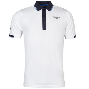 Glenmuir Gents Contrast Tipping Polo Shirt White