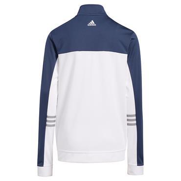 adidas Junior - Boys Full Zip 3-Stripes Jacket Crew Navy