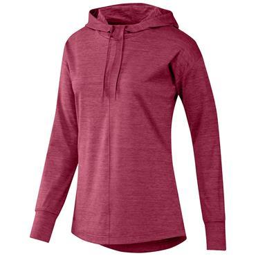 adidas Ladies Essentials Primegreen Heathered Hoodie Wild Pink