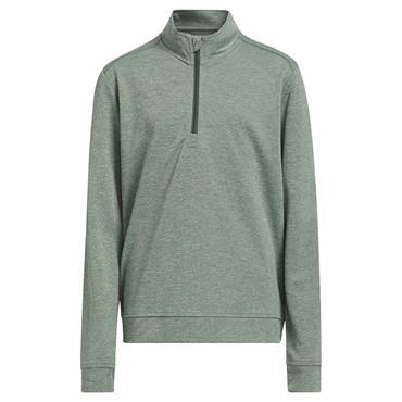 adidas Junior - Boys ¼ Zip Heather Pullover Green Oxide - Mel