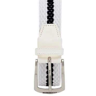J.Lindeberg Hades Elastic Stripe Belt White