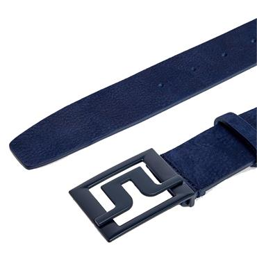 J.Lindeberg Gents Slater 40 Leather Belt Navy