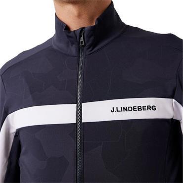 J.Lindeberg Gents Seasonal Zipped Jarvis Navy - Debossed Camo