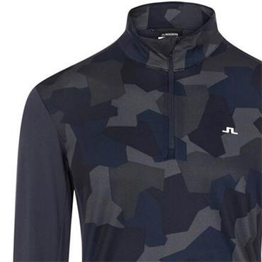 J.Lindeberg Gents Brandon Zipped Mid Layer Navy Camo