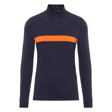 J.Lindeberg Gents Ethan Slim Fit Long Sleeve Polo Shirt Navy
