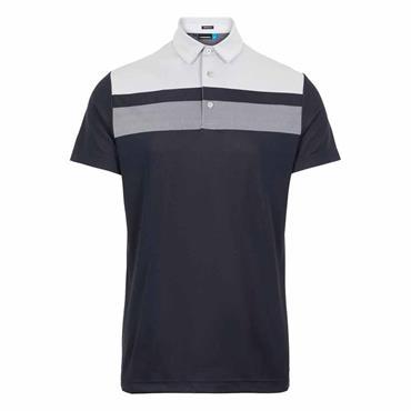 J.Lindeberg Gents Kade Reg Fit Tech Polo Shirt Navy