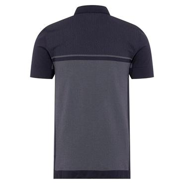 J.Lindeberg Gents Alfred Seamless 2-Tone Polo Shirt Navy
