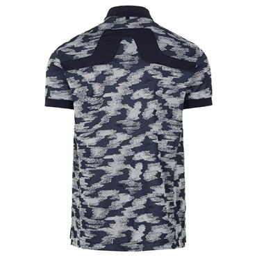 J.Lindeberg Gents KV Reg Fit Jacquard™ Polo Shirt Grey