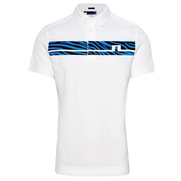 J.Lindeberg Gents Clark Slim Fit Print Polo Shirt White