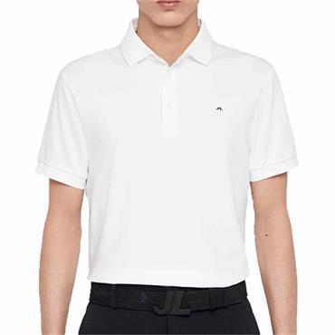 J.Lindeberg Gents Stan Tech Polo Shirt White