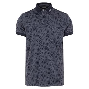 J.Lindeberg Gents Tour Tech Regular Fit Graphic Polo Shirt Checker Navy