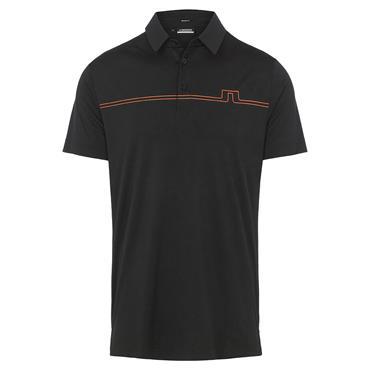 J.Lindeberg Gents Clay Reg Fit Polo Shirt Black