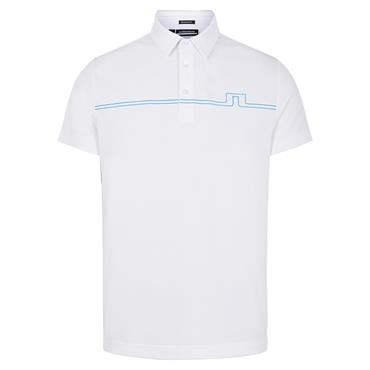 J.Lindeberg Gents Clay Reg Fit Polo Shirt White