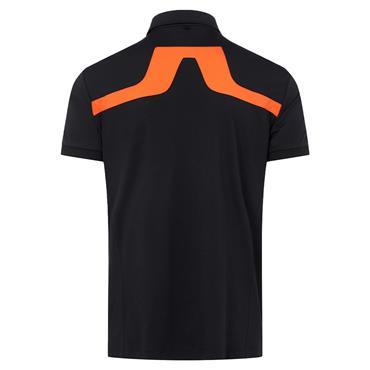 J.Lindeberg Gents KV Regular Fit Polo Shirt Black