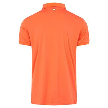 J.Lindeberg Gents Tour Tech Regular Fit Polo Shirt Lava Orange