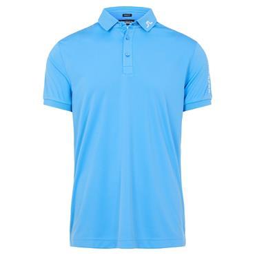 J.Lindeberg Gents Tour Tech Regular Fit Polo Shirt Ocean Blue