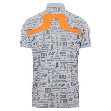 J.Lindeberg Gents KV Regular Fit Print Polo Shirt Future Grey O075