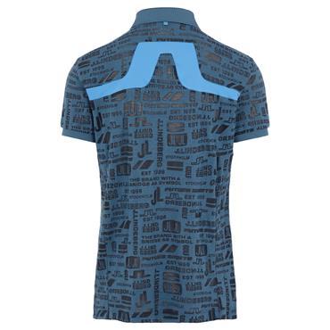 J.Lindeberg Gents KV Regular Fit Print Polo Shirt Navy O179