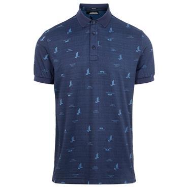 J.Lindeberg Gents Glen Regular Fit Polo Shirt Ocean Blue