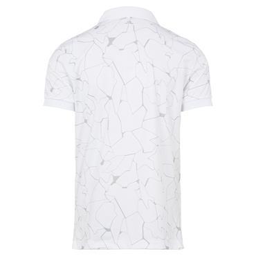 J.Lindeberg Gents Tour Tech Print Regular Fit Polo Shirt Slit White