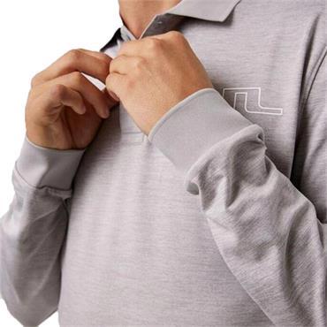 J.Lindeberg Gents Bridge Tech Long Sleeve Polo Micro Chip