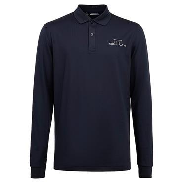 J.Lindeberg Gents Bridge Tech Long Sleeve Polo Shirt Navy