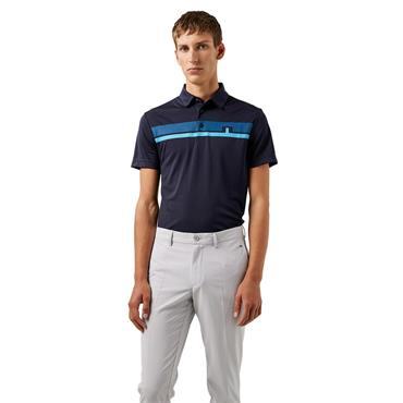 J.Lindeberg Gents Clark Tech Polo Shirt Navy