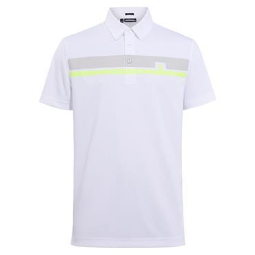 J.Lindeberg Gents Clark Tech Polo Shirt White