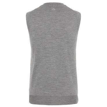 J.Lindeberg Gents Lynfa Knitted Merino Vest  Grey 9451