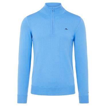 J.Lindeberg Gents Kian Zipped Sweater Ocean Blue